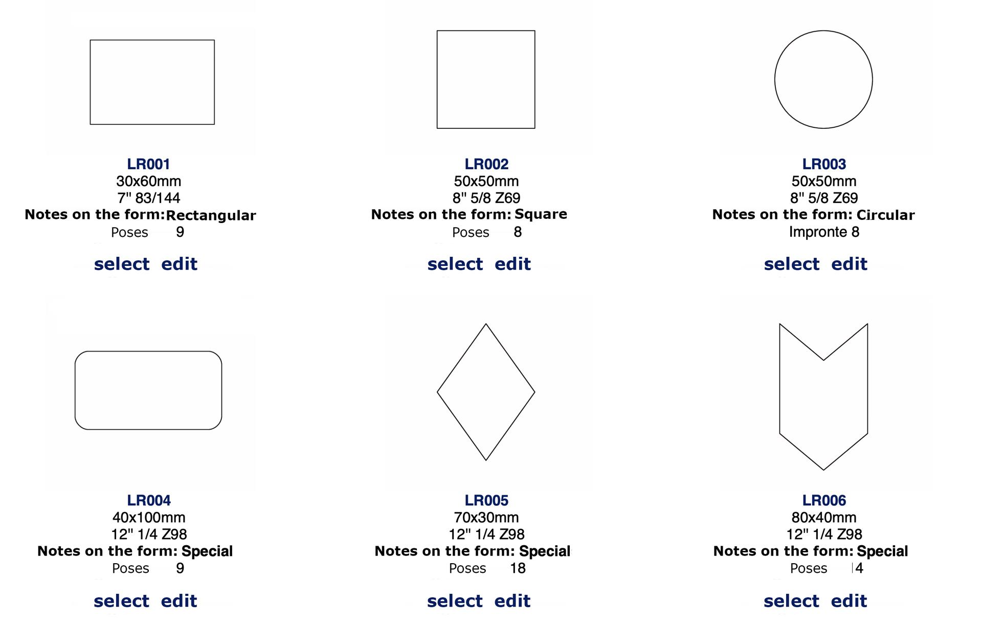 archivia le tue fustelle con anteprime e PDF